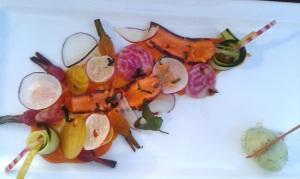 entrée de légumes de saison