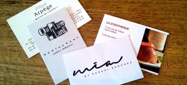Restaurants étoilés au Michelin ou non où sont nos vins